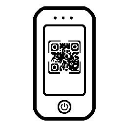 Qr コード携帯電話スクリーンの無料アイコン
