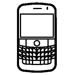 人気のある携帯電話モデルのブラックベリー大胆な無料のアイコン