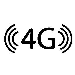 4 G 技術シンボル無料アイコン