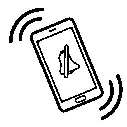 活気に満ちた携帯電話のミュート モード無料アイコン