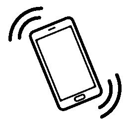携帯電話の振動の無料アイコン