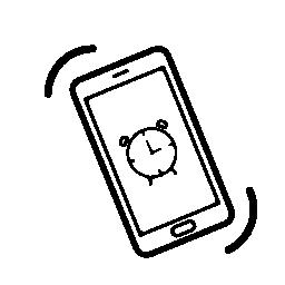 無料のアイコンをリンギング携帯電話のアラーム