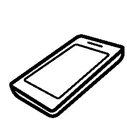 携帯電話の観点無料アイコン