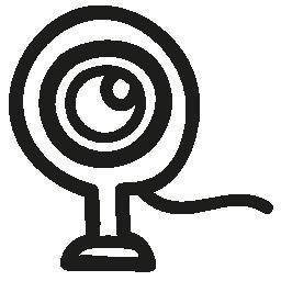 ウェブカメラ手描き下ろしシンボル無料アイコン