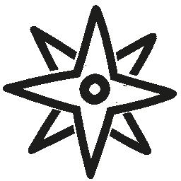 風の方向星手描き下ろしシンボル無料アイコン