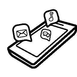 チャットで電話で泡パースペクティブ無料アイコン
