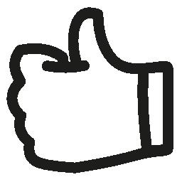 手を親指のような描画シンボル概要無料アイコン
