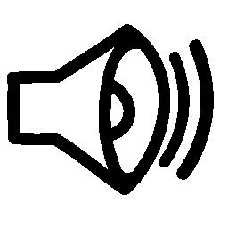 サウンド手描き下ろしインタ フェース シンボル無料アイコン