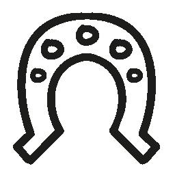 馬蹄形の穴と手描き下ろし概要無料アイコン