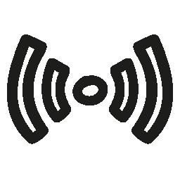 Wifi 信号手描きシンボル無料アイコン