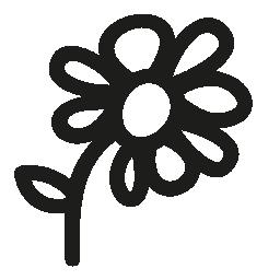 花手描き下ろしシンボル無料アイコン