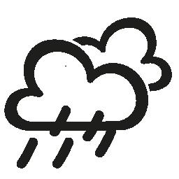 雨の天気手描き下ろしシンボル無料アイコン