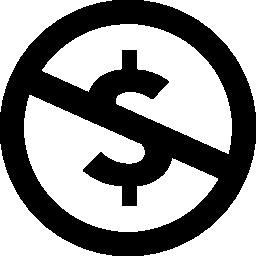 Dolar 拒否無料アイコン