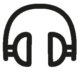 ヘッドフォンの手描きツール無料アイコン