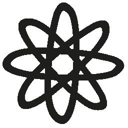 Atom 手描き下ろしシンボル無料アイコン
