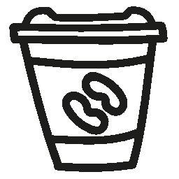 コーヒー ガラス手描き下ろし概要無料アイコン