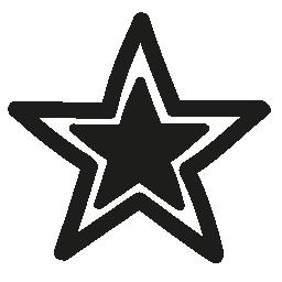無料アイコン内部黒の小さい星と星の概要