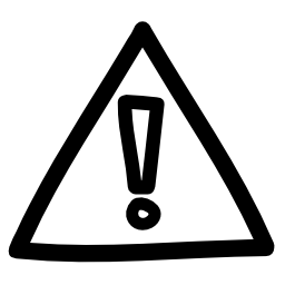 警告手描きサイン無料アイコン