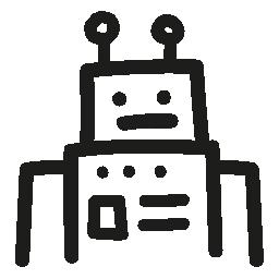 ロボット手描き下ろし概要無料アイコン