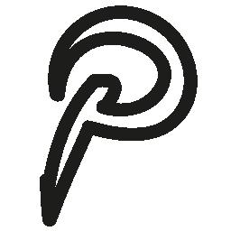 Pinterest 手描き下ろしロゴ無料アイコン