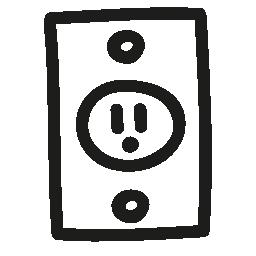プラグ手描画ツール無料アイコン