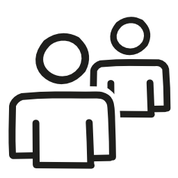 ユーザー カップル手描かれたアウトライン無料アイコン