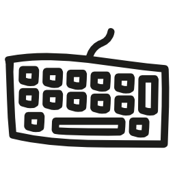 キーボード手描き下ろし不規則なツール図形概要無料アイコン