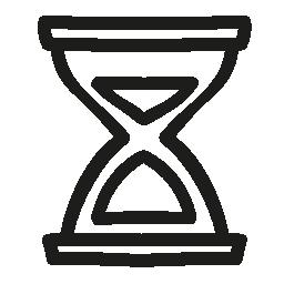 砂の時計の手描画ツール概要無料アイコン