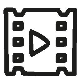 ビデオ手描き下ろしシンボル無料アイコン