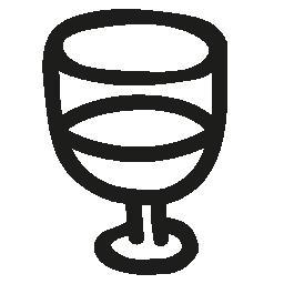 ワイン グラス手描き下ろし概要無料アイコン