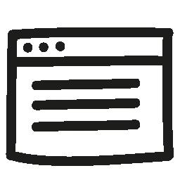 ウィンドウはインターフェイス無料アイコンの描画記号を手します。
