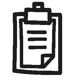 クリップボードの手描き下ろしシンボル無料アイコン