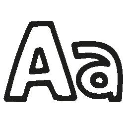 フォント手描き下ろしシンボル概要無料アイコン