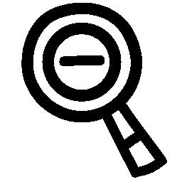 少ないズーム手描き下ろしシンボル無料アイコン