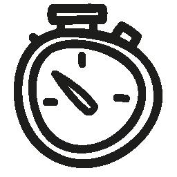 不規則な形の時計手描画ツール シンボル無料アイコン