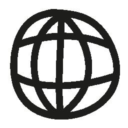 世界グリッド手描き下ろしシンボル無料アイコン