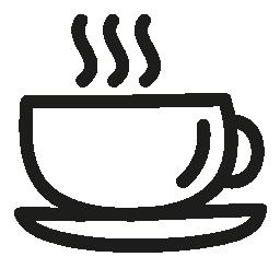 マグカップ コーヒー手描きシンボル無料アイコン