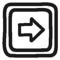 右ボタン手描き下ろし概要無料アイコン