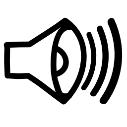 スピーカーの無料アイコンのサウンド手描画インタ フェース シンボル