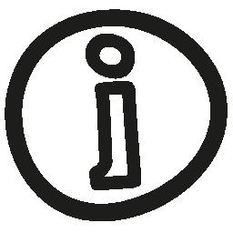 情報手描き下ろし不規則なボタン無料アイコン