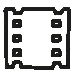 ビデオ フィルムの手描き下ろしシンボル無料アイコン