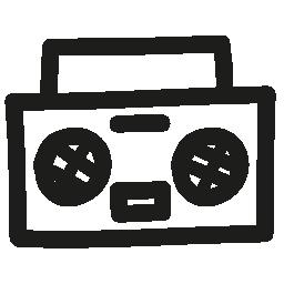 ステレオ手描き下ろしオーディオ ツール無料アイコン