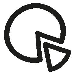 パイ画像手描き下ろしビジネス シンボル無料アイコン