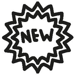 新しいタグ手描き下ろし概要無料アイコン