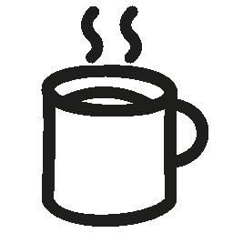 ホット コーヒー ・ マグ手描き下ろし概要無料アイコン