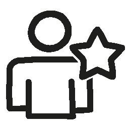 お気に入りユーザー手書きインタ フェース シンボル無料アイコン