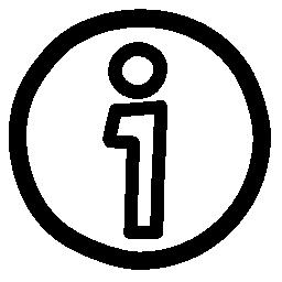 情報手描き下ろし円形ボタン無料アイコン