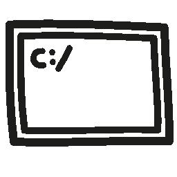 ターミナル手描き下ろしシンボル無料アイコン