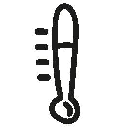 温度計の手描きツール無料アイコン