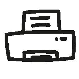 プリンターの手描きツール無料のアイコン
